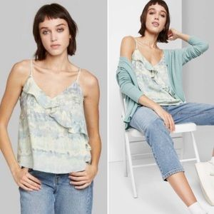 Wild Fable Cami Ruffle Top S L855